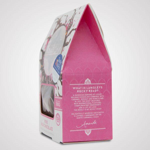 luxury milk chocolate rose rocky road