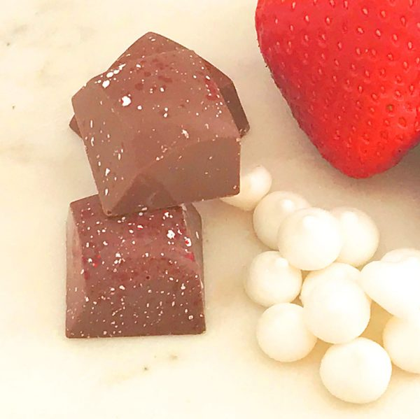 close-up strawberry rocky road milk chocolate