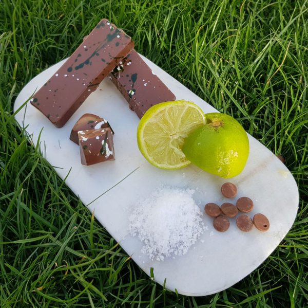 thirst quenching lime & seasalt rocky road milk chocolate