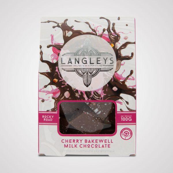 langleys cherry bakewell rocky road milk chocolate