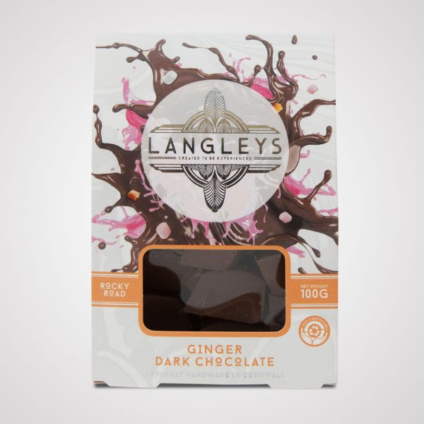 langleys ginger rocky road dark chocolate