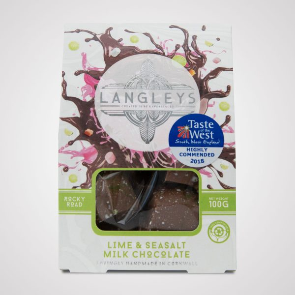 langleys lime and seasalt rocky road milk chocolate