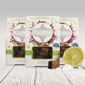 3 cartons of lime & seasalt milk chocolate rocky road