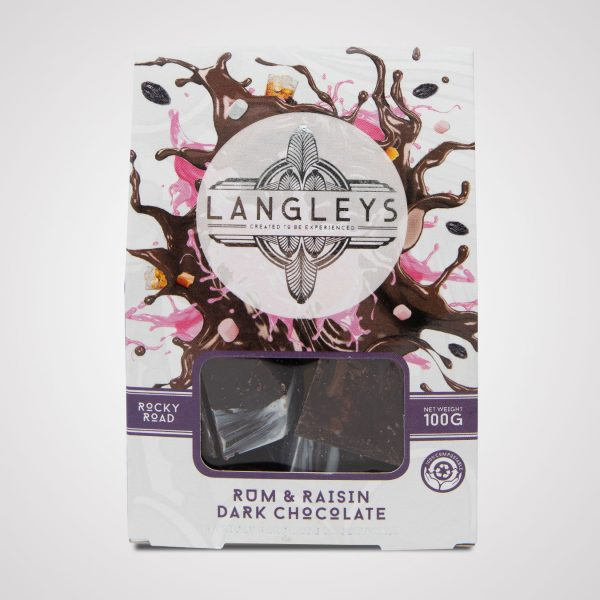 langleys rum and raisin rocky road dark chocolate