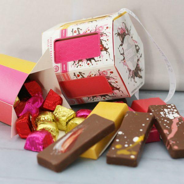 pudding carousel chocolate box selection