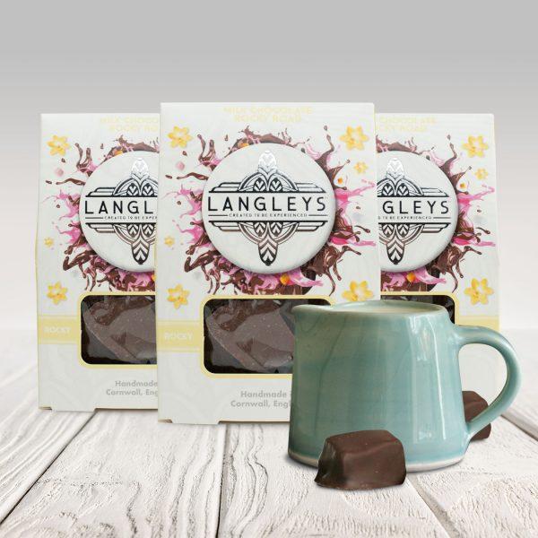 3 cartons of m ilk chocolate rocky road