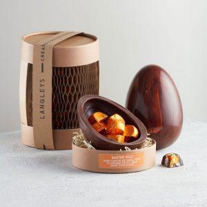 Ginger Dark Chocolate Easter Egg from Langleys