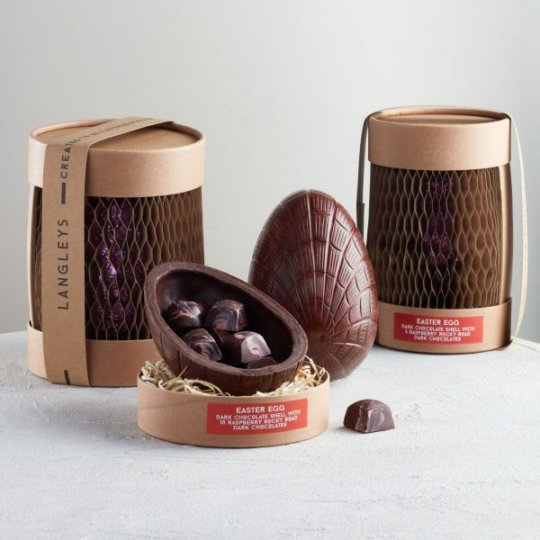 Raspberry Dark Chocolate Easter Eggs From Langleys
