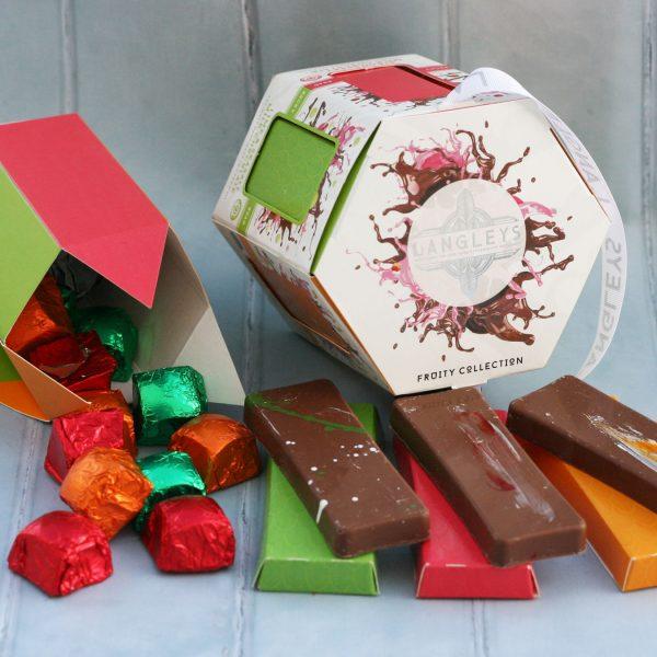 fruity carousel chocolate selection