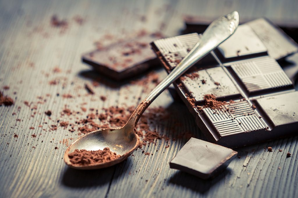 The difference between milk chocolate and dark chocolate